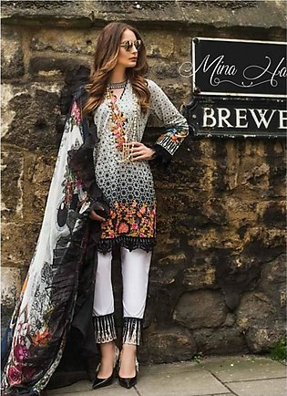 Mina Hasan Luxury Embroidered 3 Piece Lawn Festive Collection 2019 (MH-1A)