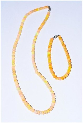 Gilgit Bazar Opal Real Stone Necklace For Women (GB388)