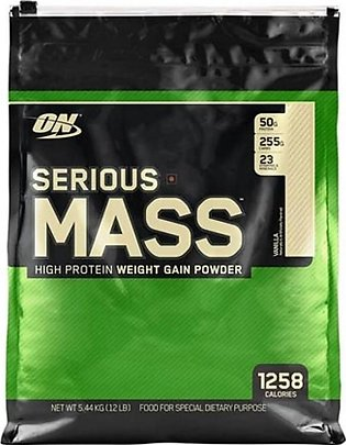 ON Optimum Nutrition Serious Mass Weight Gain Protein Powder Vanilla 5.44kg