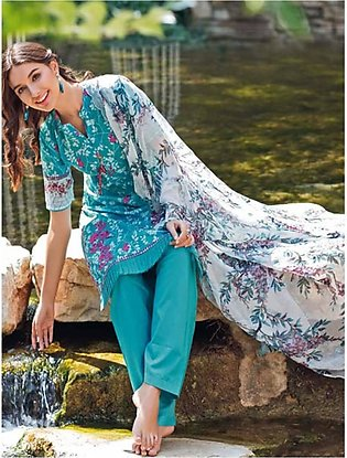 Gul Ahmed Summer Premium Collection 2020 3 Pieces (BCT13)