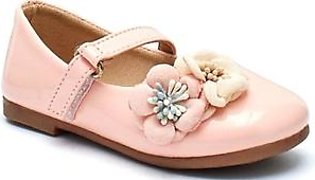 Servis Ndure Floral Shoes For Girl Pink (ND-IF-0013)