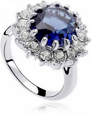 Shoppingmania Platinum Pearl Ring For Women Silver (0080)