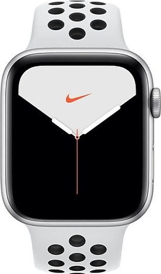 Apple Watch Series 5 44mm Silver Aluminum Case With Nike Silver Sport Band - ...