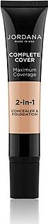 Jordana Complete Cover 2 In 1 Concealer & Foundation - Honey Olive (06)