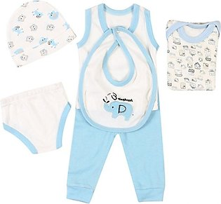 Wokstore Garments Suit For New Born Baby Blue Pack Of 6