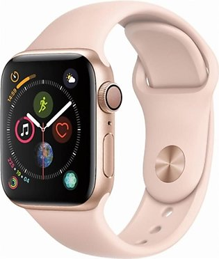 Apple iWatch Series 4 40mm Gold Aluminum Case With Pink Sand Sport Band - GPS...
