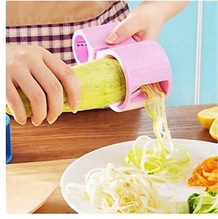 Giftopk Spiral Cutter With Knife Sharpener Pink