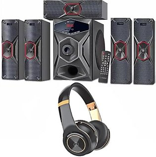 Audionic Pace 8 Home Theater System With A-110 Wireless Headphone Combo Deal