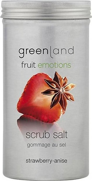 Greenland Bodycare Fruit Emotions Scrub Salt Strawberry Anise 400grm