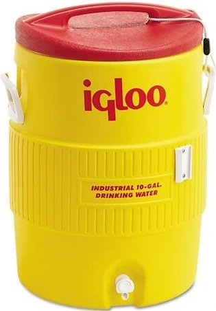 Igloo 400 Series 10 Gallon Heavy Duty Water Cooler Yellow (04101)
