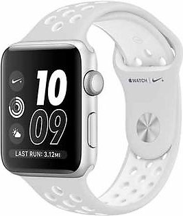 Apple iWatch Nike+ Series 2 42mm Silver Aluminum Case with Pure Platinum/White Nike Sport Band (MQ192)