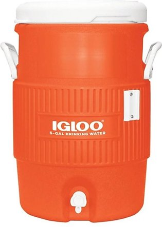 Igloo 5 Gallon Seat Top Without Cup Dispenser Water Cooler Orange (42316)