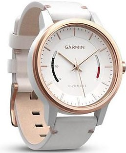 Garmin Vivomove Classic Activity Tracking Watch Rose Gold with Leather Band