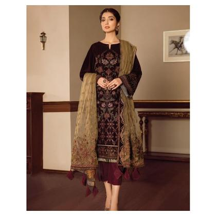 Baroque Melody Velvet Embroidered Collection 3 Piece (01-MELOS)