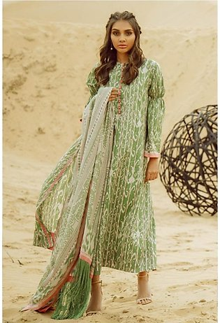 Al Karam Spring Summer Collection 2020 3 Piece (SS-9.1-20-Green)