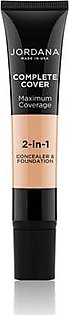 Jordana Complete Cover 2 In 1 Concealer & Foundation - Natural Beige (04)