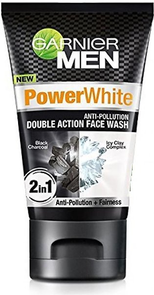 Garnier Power White Double Action Face Wash For Men 50ml