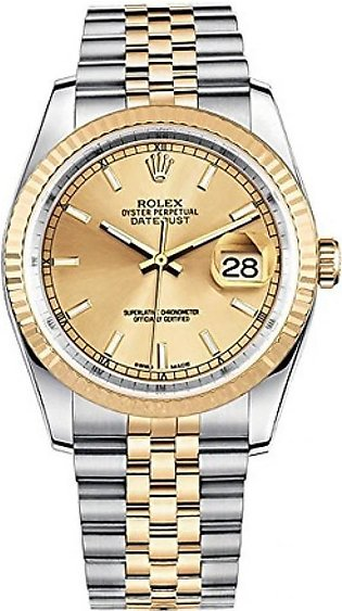 Rolex Datejust 36 Men's Watch Yellow Gold (116233-GLDSJ)