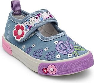 Servis TOZ Canvas Shoes For Girls Grey (TO-IN-0121)