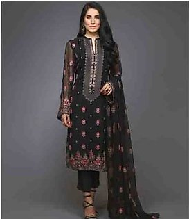 Bareeze Chiffon Baghe Noor 2 Piece (CH2966-BLACK)