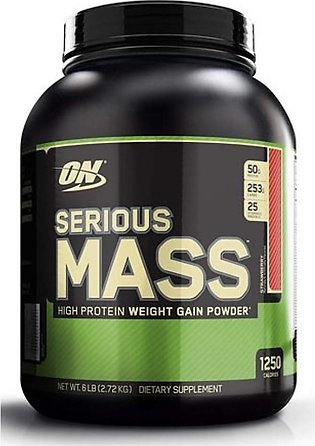 ON Optimum Nutrition Serious Mass Weight Gain Protein Powder Strawberry 2.72kg