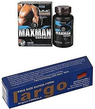 Online Butt Maxman Capsules & Largo King Size Enlargement Cream Pack Of 2
