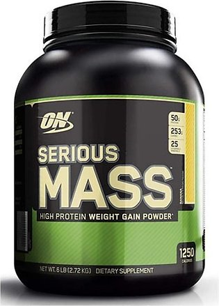 ON Optimum Nutrition Serious Mass Weight Gain Protein Powder Banana 2.72kg