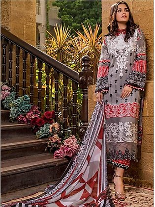 Sifona Marjaan Luxury Embroidered Lawn 2020 3 Piece (MMS-04)