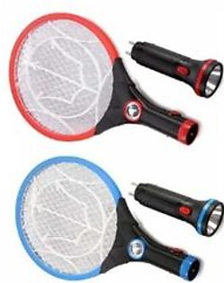 Unique Brands Rechargeable Mosquito Killer Racket With Torch Pack Of 2