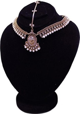 SaharCollection4u Antique Matha Patti For Women Golden