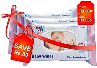 Cool & Cool Baby Wipes Pack Of 3