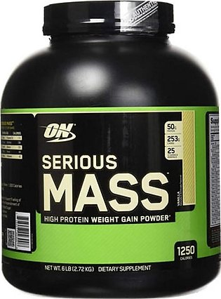 ON Optimum Nutrition Serious Mass Weight Gain Protein Powder Vanilla 2.72kg