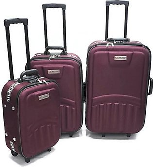Kashif Luggage Travel Trolley Bag Set Maroon