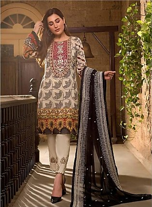 Sifona Marjaan Luxury Embroidered Lawn 2020 3 Piece (MMS-10)
