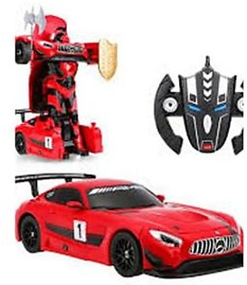 IQ Traders Transformer Racing Robot Remote Control Car Red