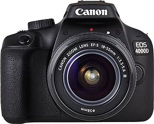 Canon EOS 4000D DSLR Camera With EF-S 18-55mm III Lens - International Warranty