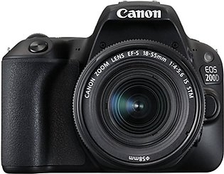 Canon EOS 200D DSLR Camera with EF-S 18-55mm IS Lens - International Warranty