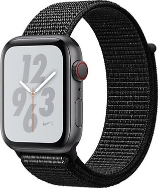Apple iWatch Series 4 44mm Space Gray Aluminum Case With Black Nike+ Sport Ba...