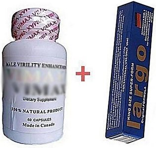 A1 Store Vimax 60 Pills & Largo Cream For Men - Pack of 2