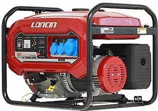 Loncin Petrol & Gas Generator with Battery & Gas Kit - 5.5 kW (LC7600DDC)