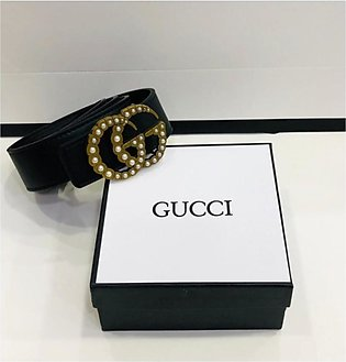 KK Accessories Gucci High Quality Leather Belt For Women Black