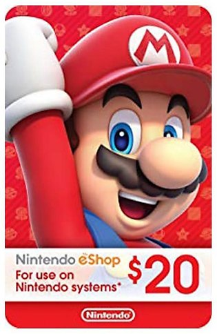 Nintendo eShop Gift Card $20 - Switch / Wii U / 3DS - Email Delivery