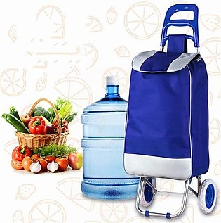 Versatile Costway Folding Shopping Trolley Blue