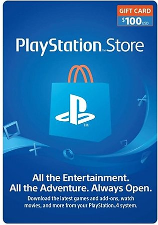 PlayStation Store Gift Card $100 - PS3/PS4/PS4 Pro/PS Vista - Email Delivery