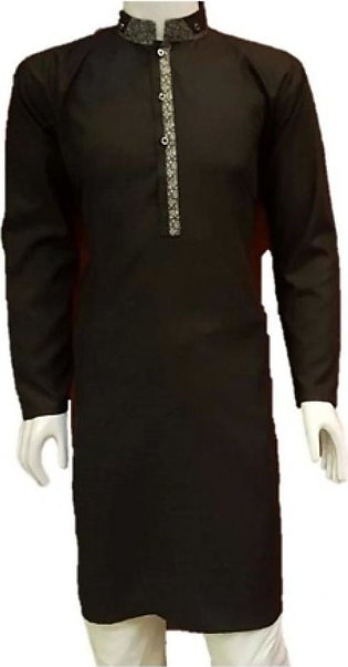 HyperZone Wash n Wear Kurta For Men Black (AFJ1-0053)