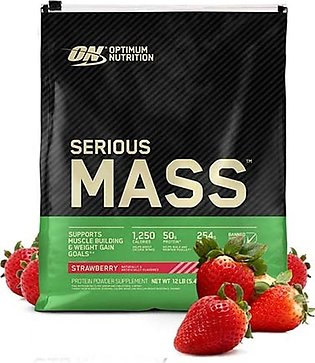 ON Pro Serious Mass High Protein Weight Gainer Powder Strawberry 5.44 kg