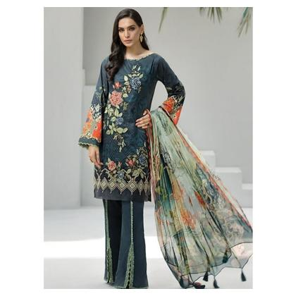Jazmin Iris Summer Lawn Collection 2019 3 Piece (D2 Tiana)