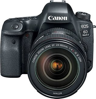 Canon EOS 6D Mark II DSLR Camera with 24-105mm f/4 Lens - International Warranty