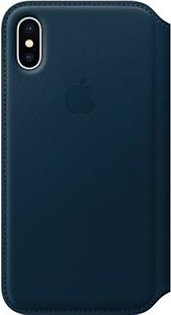 Apple Leather Folio Case For iPhone X - Cosmos Blue