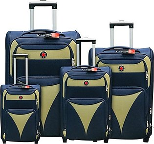 Red Dot 2W Trolley Bag 4 Pcs Set Blue